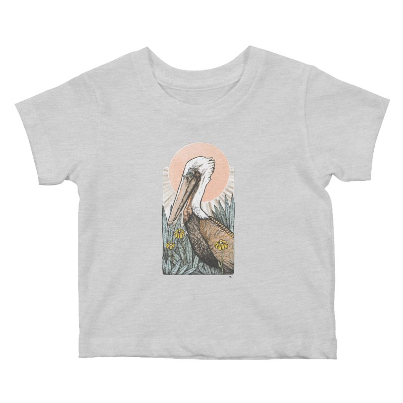 Gerald Among the Flowers Kids Baby T-Shirt by Chapman at Sea // surf art by Tash Chapman