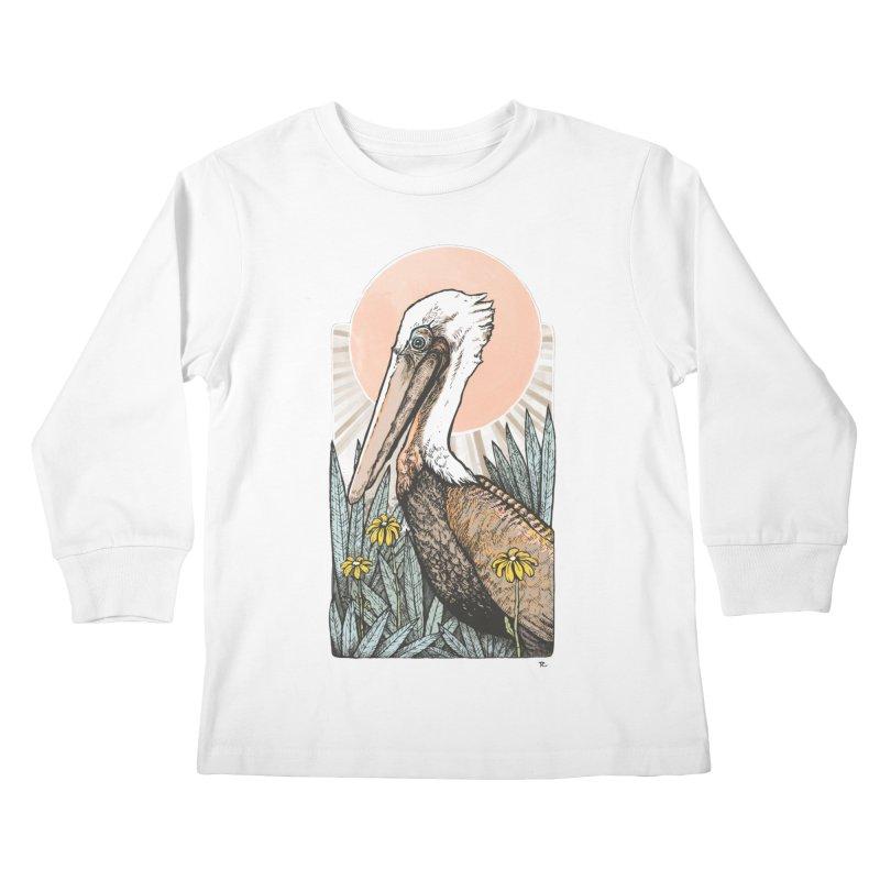 Gerald Among the Flowers Kids Longsleeve T-Shirt by Chapman at Sea // surf art by Tash Chapman