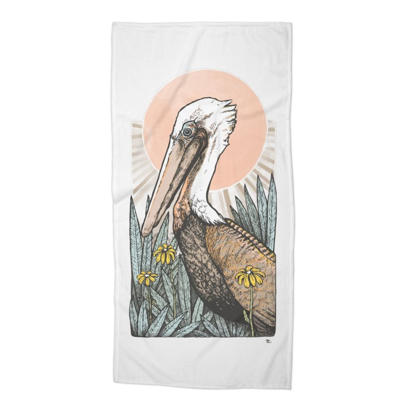 Gerald Among the Flowers Accessories Beach Towel by Chapman at Sea // surf art by Tash Chapman