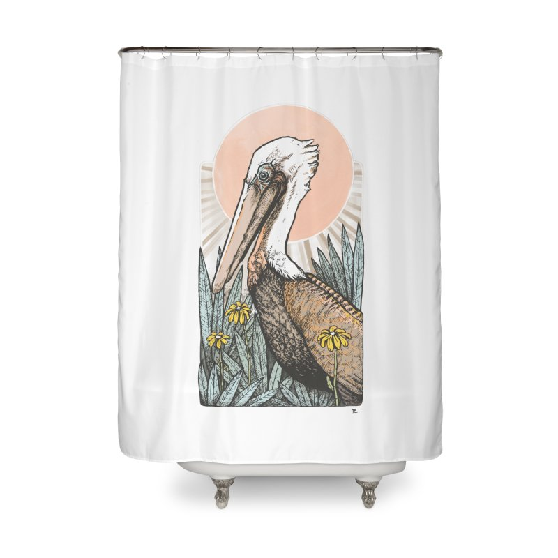 Gerald Among the Flowers Home Shower Curtain by Chapman at Sea // surf art by Tash Chapman