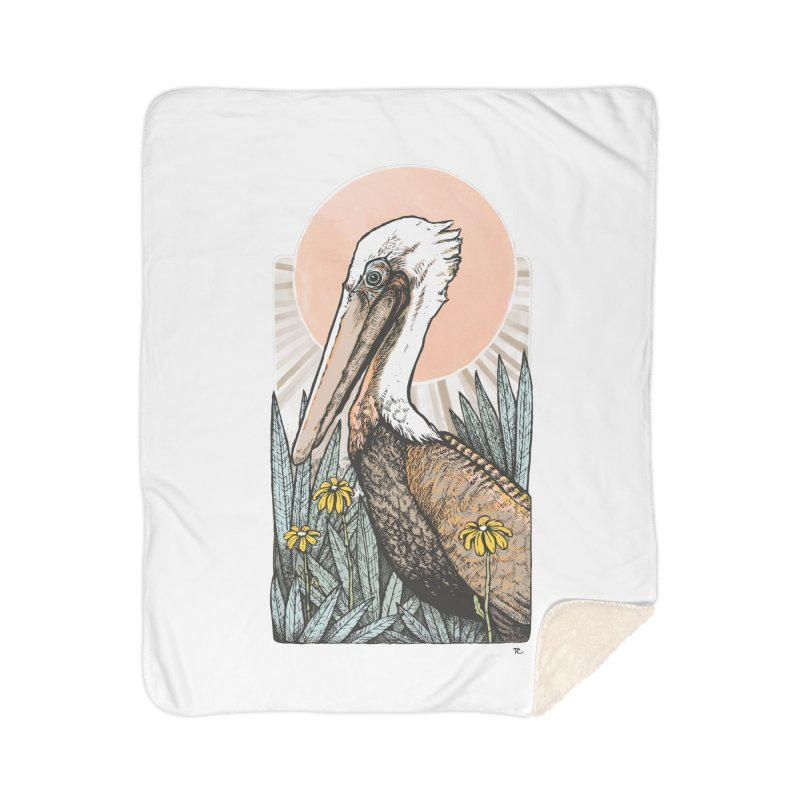Gerald Among the Flowers Home Sherpa Blanket Blanket by Chapman at Sea // surf art by Tash Chapman