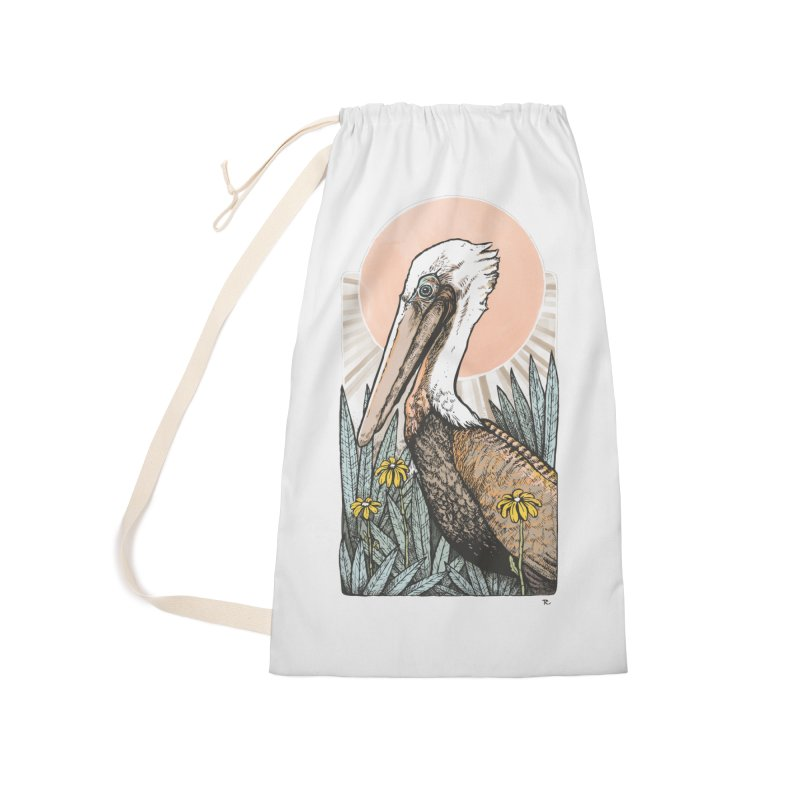 Gerald Among the Flowers Accessories Laundry Bag Bag by Chapman at Sea // surf art by Tash Chapman