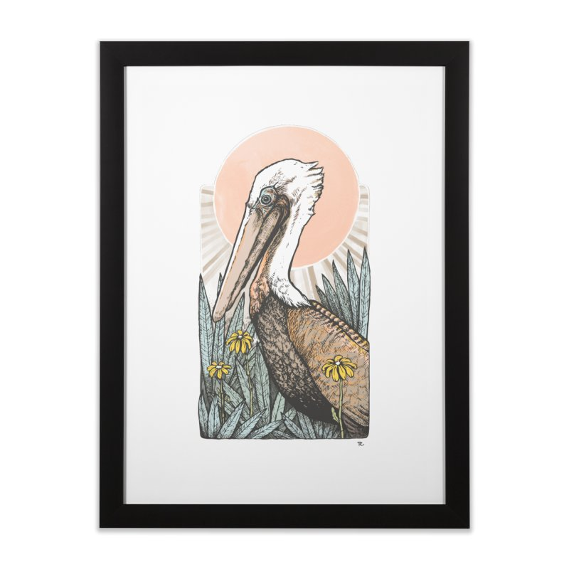 Gerald Among the Flowers Home Framed Fine Art Print by Chapman at Sea // surf art by Tash Chapman