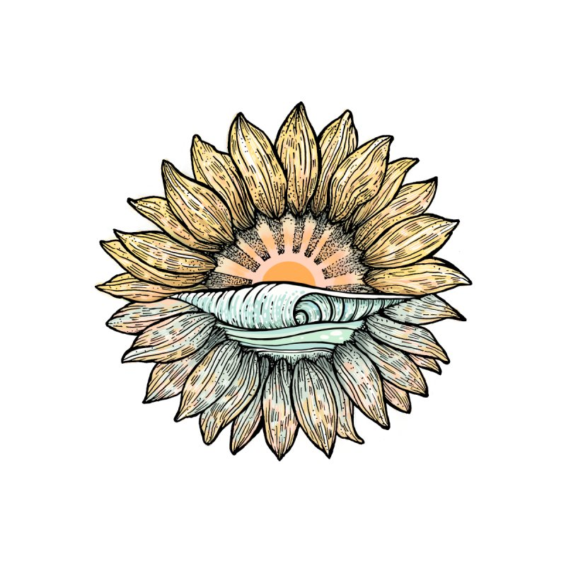 SwellFlower by Chapman at Sea // surf art by Tash Chapman