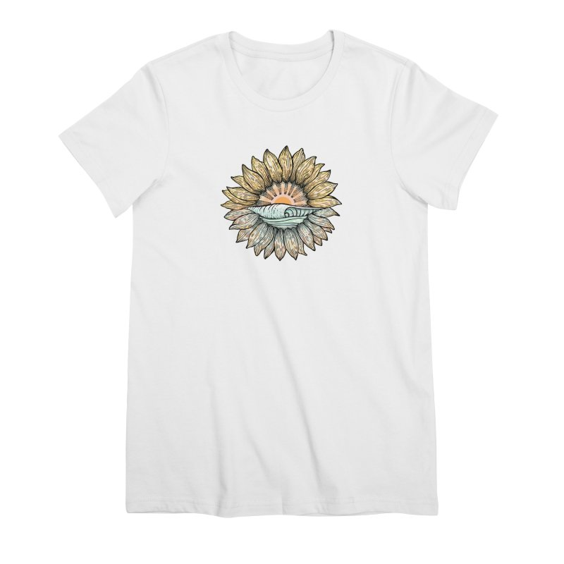 SwellFlower Women's Premium T-Shirt by Chapman at Sea // surf art by Tash Chapman