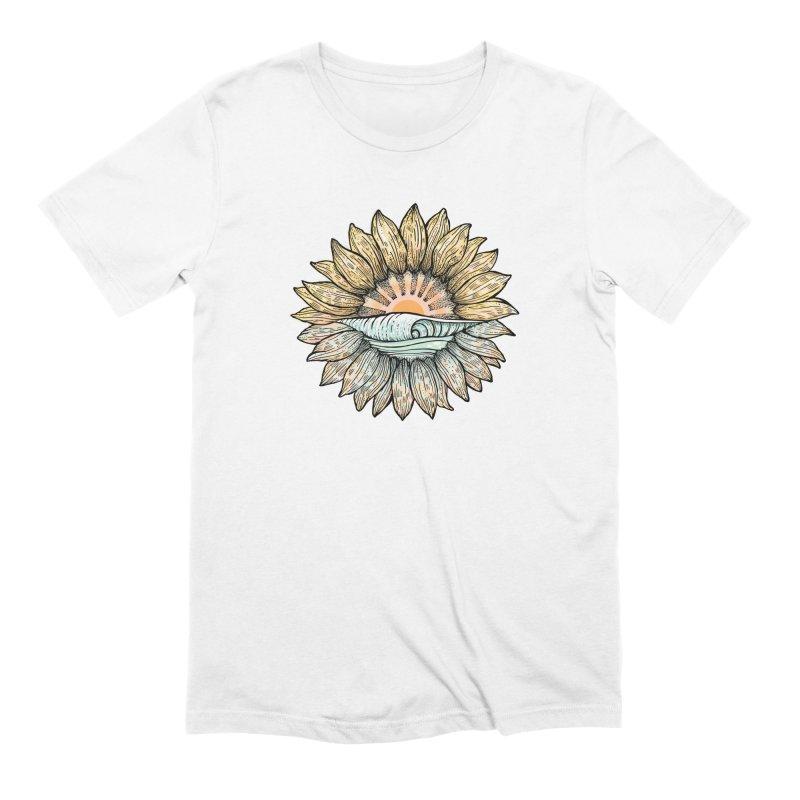 SwellFlower Men's Extra Soft T-Shirt by Chapman at Sea // surf art by Tash Chapman