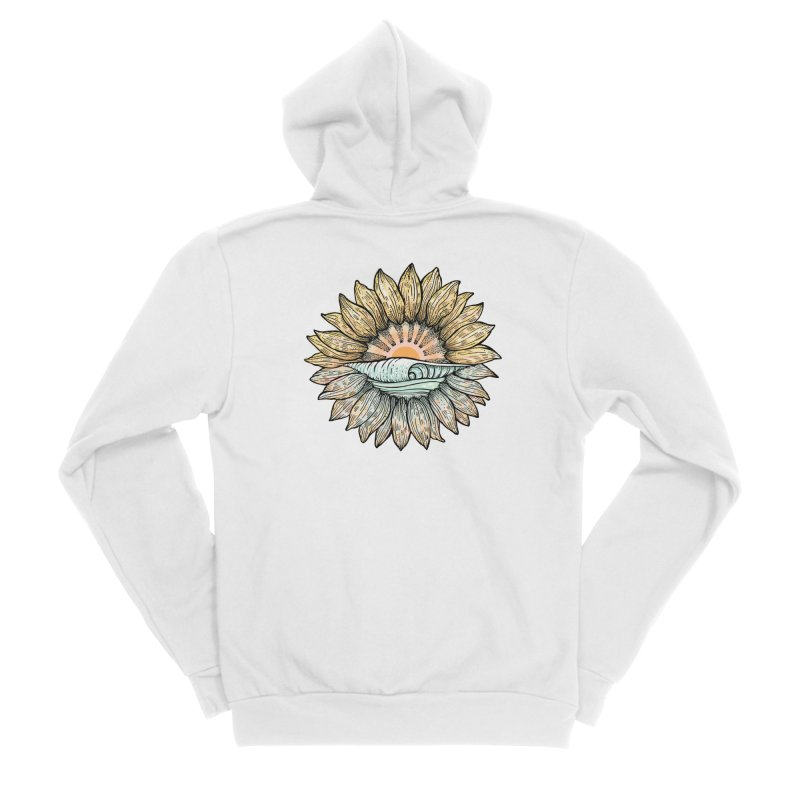 SwellFlower Men's Zip-Up Hoody by Chapman at Sea // surf art by Tash Chapman