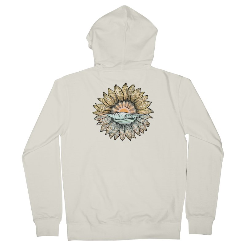 SwellFlower Men's French Terry Zip-Up Hoody by Chapman at Sea // surf art by Tash Chapman