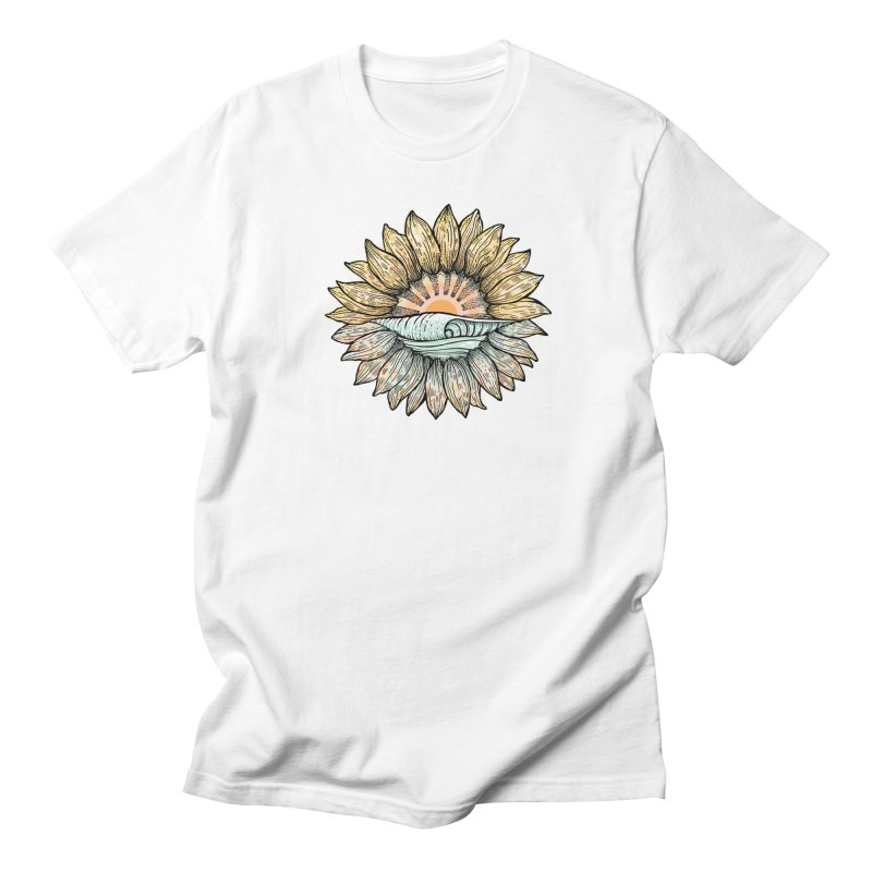 SwellFlower Men's T-Shirt by Chapman at Sea // surf art by Tash Chapman