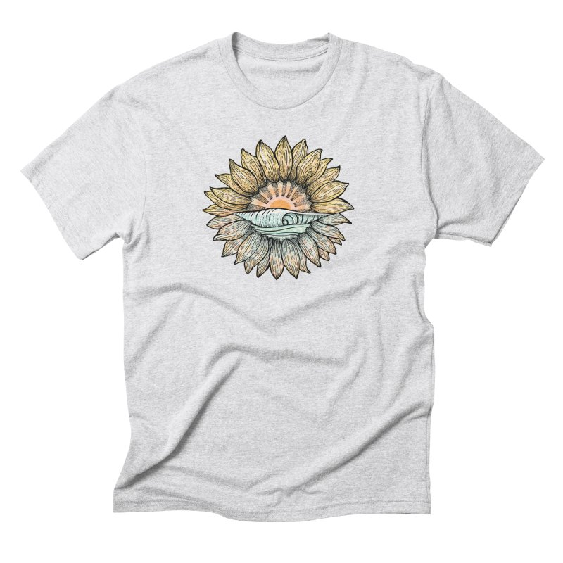 SwellFlower Men's Triblend T-Shirt by Chapman at Sea // surf art by Tash Chapman