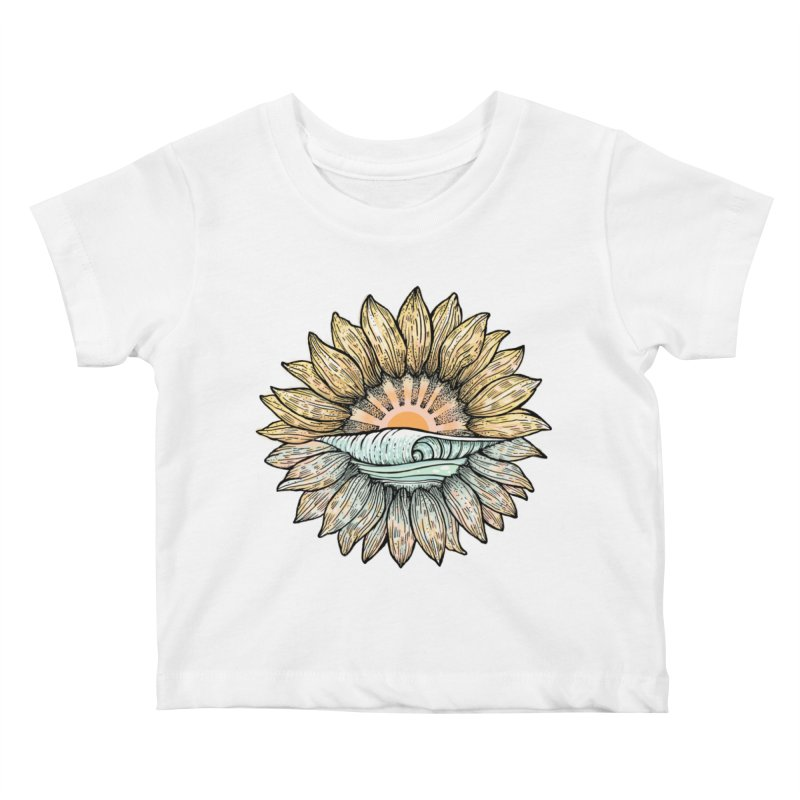 SwellFlower Kids Baby T-Shirt by Chapman at Sea // surf art by Tash Chapman