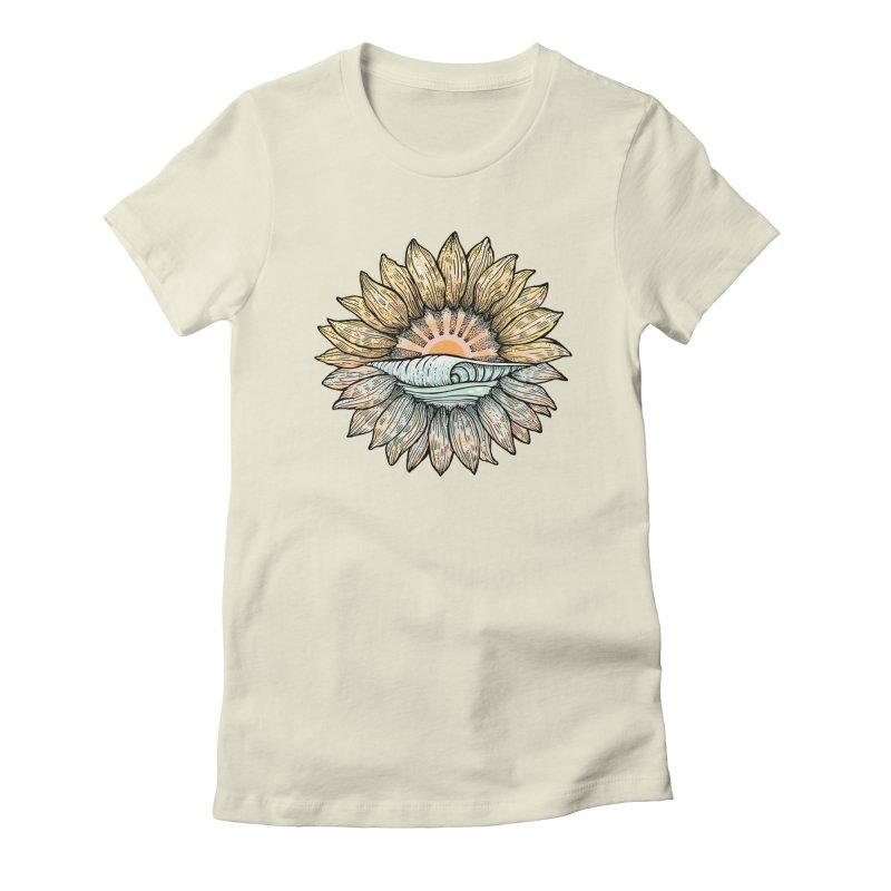 SwellFlower Women's T-Shirt by Chapman at Sea // surf art by Tash Chapman