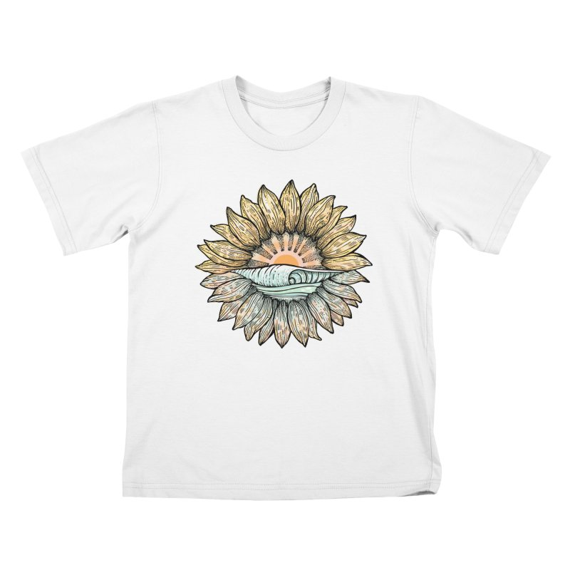 SwellFlower Kids T-Shirt by Chapman at Sea // surf art by Tash Chapman