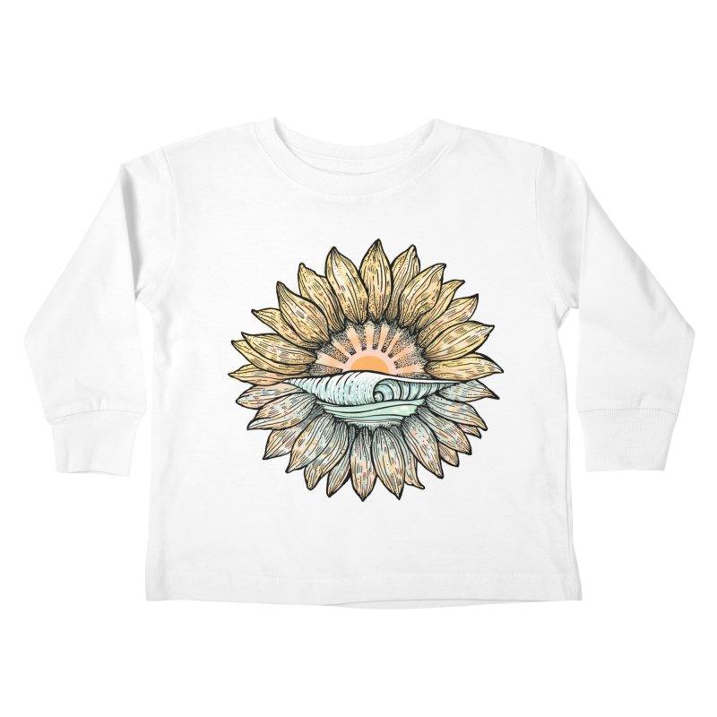 SwellFlower Kids Toddler Longsleeve T-Shirt by Chapman at Sea // surf art by Tash Chapman