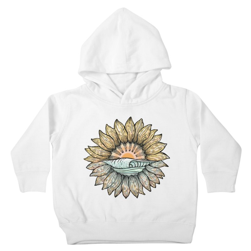SwellFlower Kids Toddler Pullover Hoody by Chapman at Sea // surf art by Tash Chapman