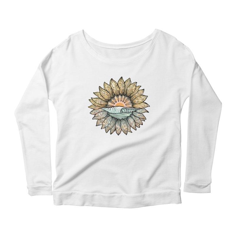 SwellFlower Women's Scoop Neck Longsleeve T-Shirt by Chapman at Sea // surf art by Tash Chapman