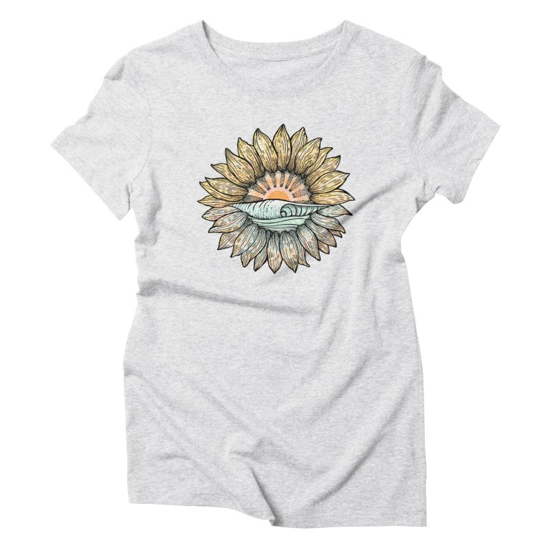 SwellFlower Women's Triblend T-Shirt by Chapman at Sea // surf art by Tash Chapman