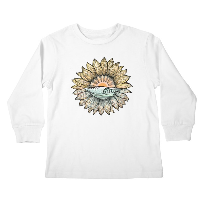 SwellFlower Kids Longsleeve T-Shirt by Chapman at Sea // surf art by Tash Chapman
