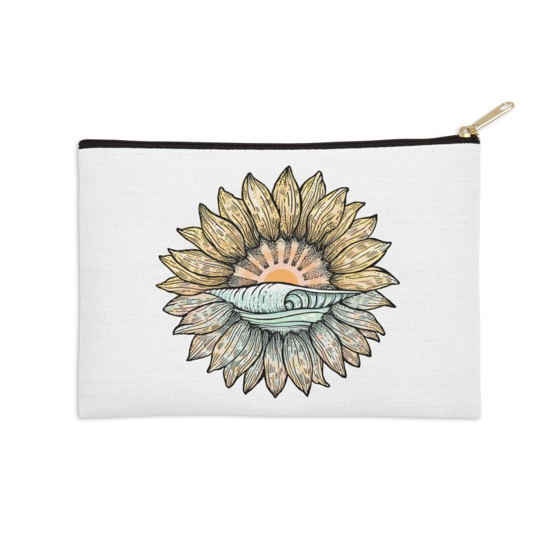 SwellFlower Accessories Zip Pouch by Chapman at Sea // surf art by Tash Chapman