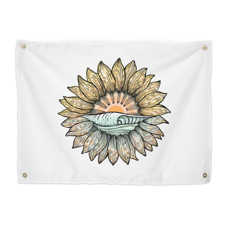 SwellFlower Home Tapestry by Chapman at Sea // surf art by Tash Chapman