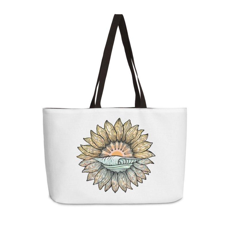 SwellFlower Accessories Weekender Bag Bag by Chapman at Sea // surf art by Tash Chapman