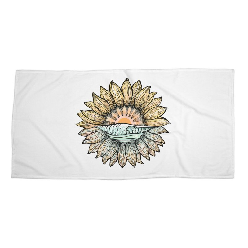 SwellFlower Accessories Beach Towel by Chapman at Sea // surf art by Tash Chapman