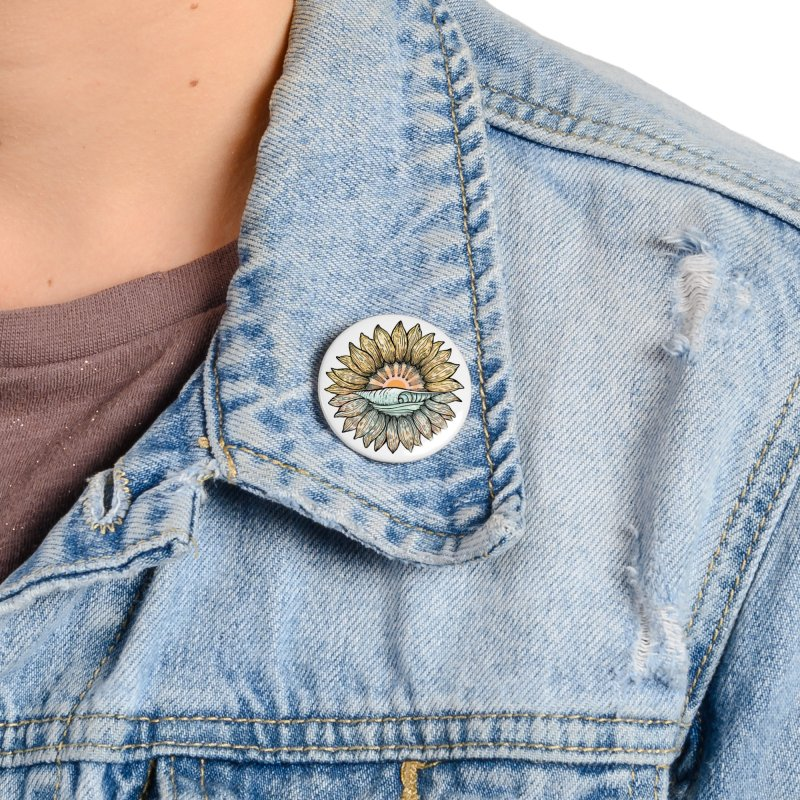 SwellFlower Accessories Button by Chapman at Sea // surf art by Tash Chapman
