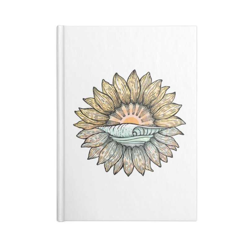 SwellFlower Accessories Blank Journal Notebook by Chapman at Sea // surf art by Tash Chapman
