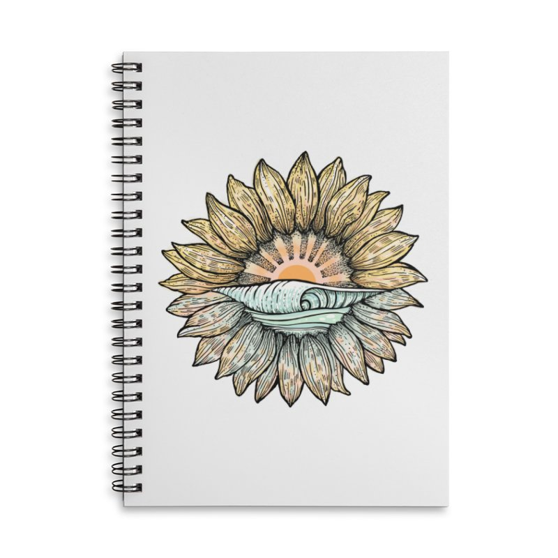 SwellFlower Accessories Lined Spiral Notebook by Chapman at Sea // surf art by Tash Chapman