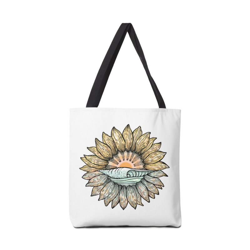 SwellFlower Accessories Tote Bag Bag by Chapman at Sea // surf art by Tash Chapman