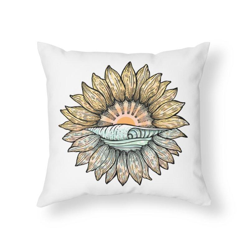 SwellFlower Home Throw Pillow by Chapman at Sea // surf art by Tash Chapman
