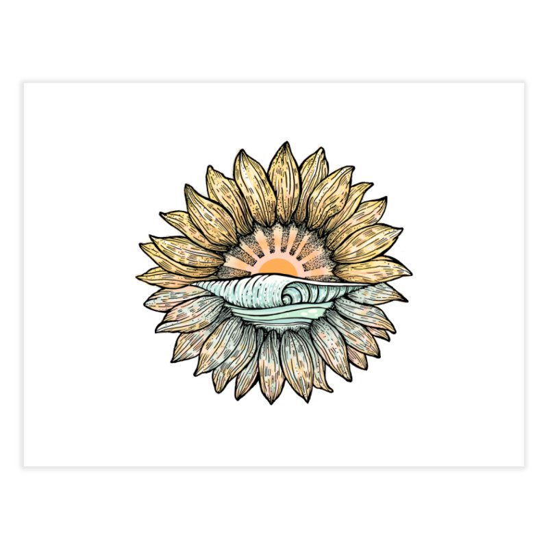 SwellFlower Home Fine Art Print by Chapman at Sea // surf art by Tash Chapman