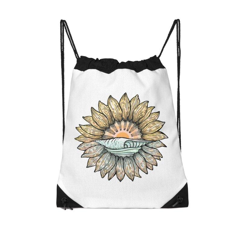 SwellFlower Accessories Bag by Chapman at Sea // surf art by Tash Chapman