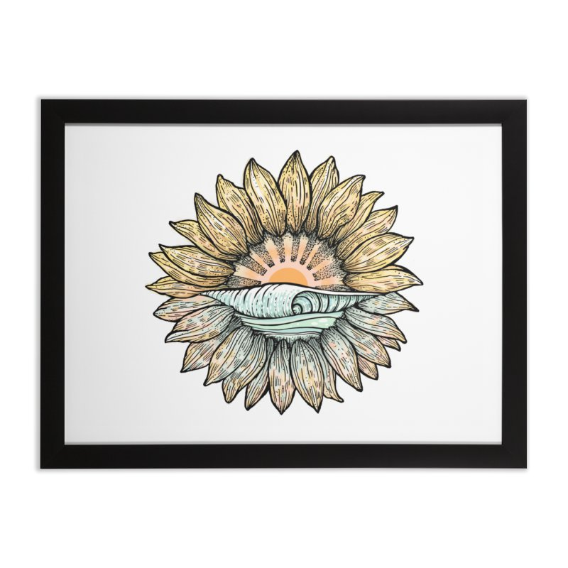 SwellFlower Home Framed Fine Art Print by Chapman at Sea // surf art by Tash Chapman