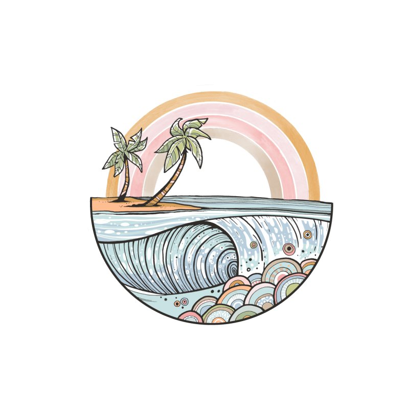Summer Swell Accessories Greeting Card by Chapman at Sea // surf art by Tash Chapman