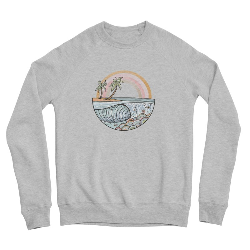 Summer Swell Men's Sweatshirt by Chapman at Sea // surf art by Tash Chapman
