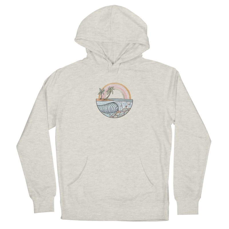 Summer Swell Women's Pullover Hoody by Chapman at Sea // surf art by Tash Chapman