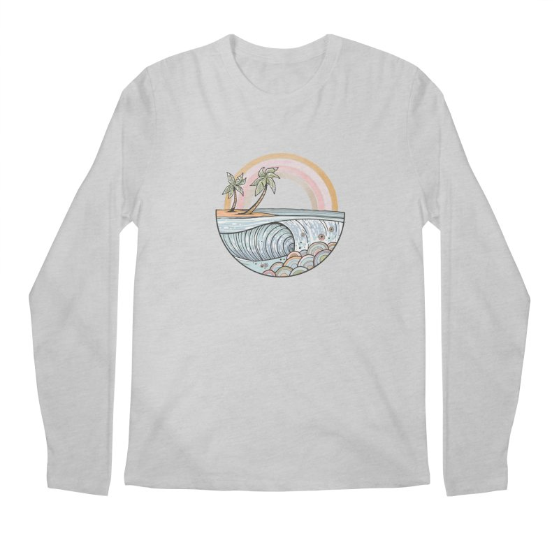 Summer Swell Men's Longsleeve T-Shirt by Chapman at Sea // surf art by Tash Chapman