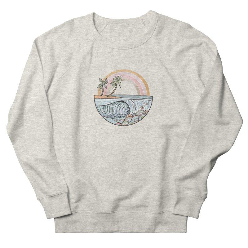 Summer Swell Men's Sweatshirt by Chapman at Sea // surf art by Tash Chapman