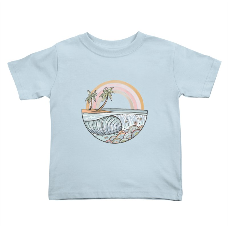 Summer Swell Kids Toddler T-Shirt by Chapman at Sea // surf art by Tash Chapman