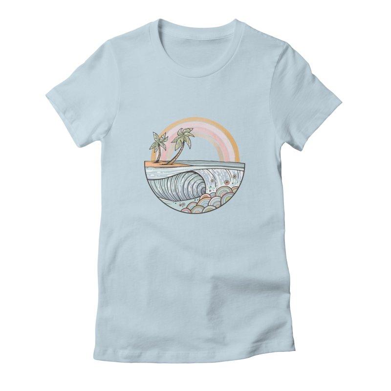 Summer Swell Women's T-Shirt by Chapman at Sea // surf art by Tash Chapman