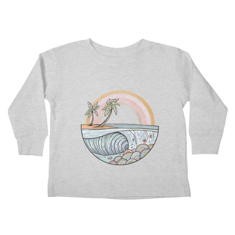 Summer Swell Kids Toddler Longsleeve T-Shirt by Chapman at Sea // surf art by Tash Chapman
