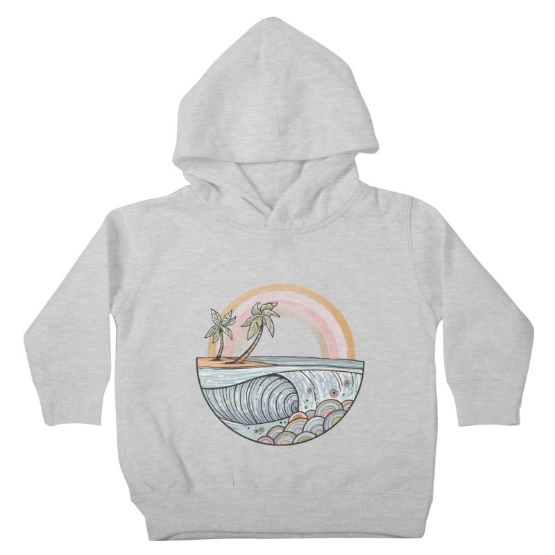Summer Swell Kids Toddler Pullover Hoody by Chapman at Sea // surf art by Tash Chapman