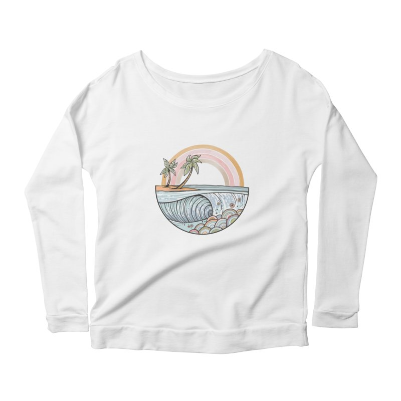 Summer Swell Women's Longsleeve T-Shirt by Chapman at Sea // surf art by Tash Chapman