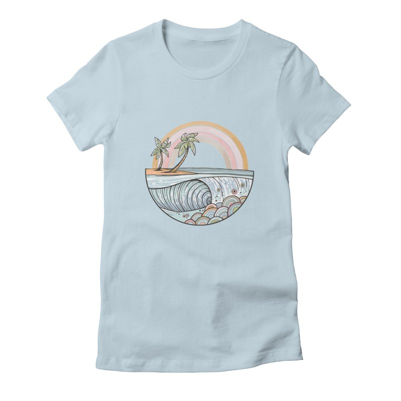 Summer Swell Women's T-Shirt by Chapman at Sea // surf art by Tash Chapman