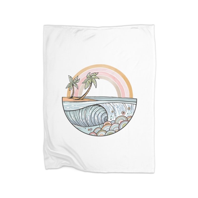 Summer Swell Home Blanket by Chapman at Sea // surf art by Tash Chapman