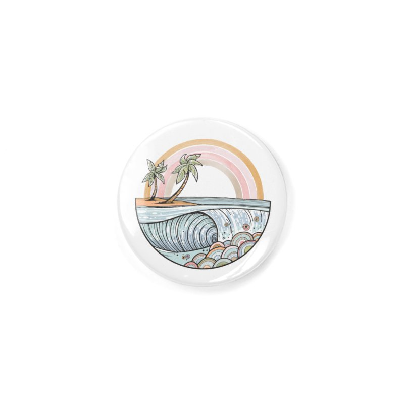 Summer Swell Accessories Button by Chapman at Sea // surf art by Tash Chapman