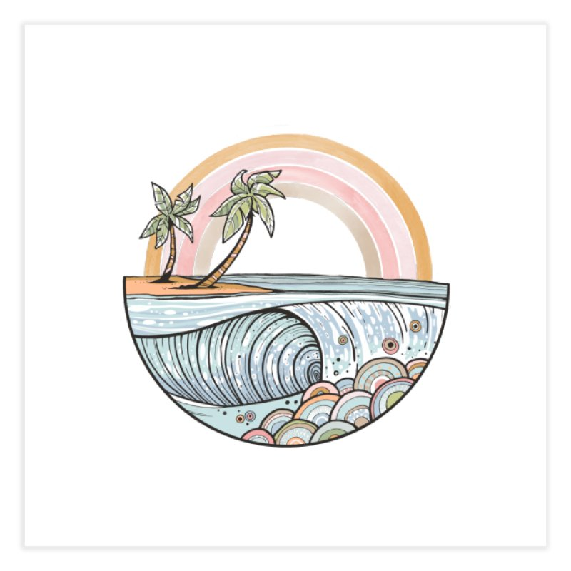 Summer Swell Home Fine Art Print by Chapman at Sea // surf art by Tash Chapman