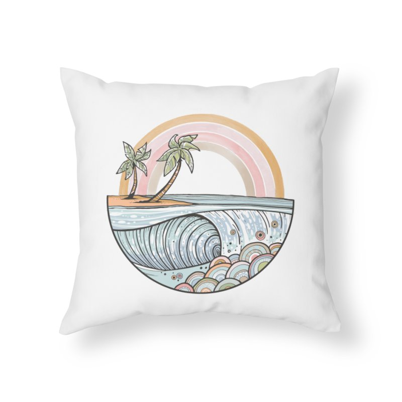 Summer Swell Home Throw Pillow by Chapman at Sea // surf art by Tash Chapman