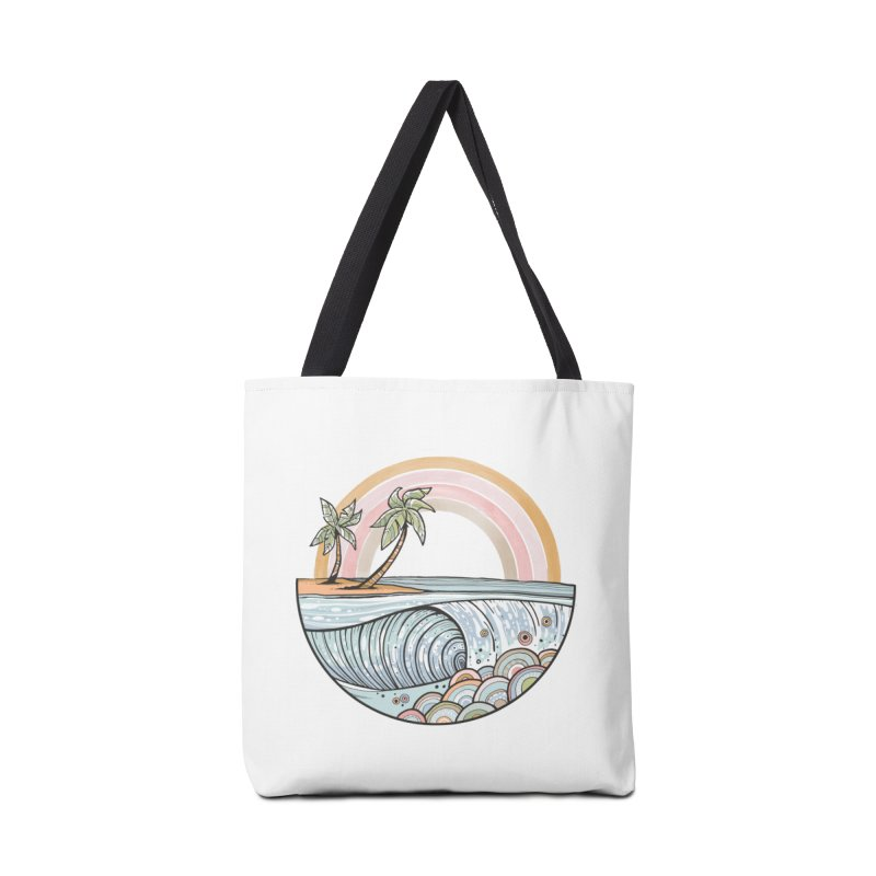 Summer Swell Accessories Bag by Chapman at Sea // surf art by Tash Chapman